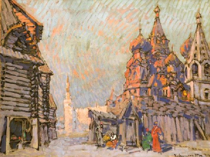 Костантин Коровин. Хованщина. У стен. 1910