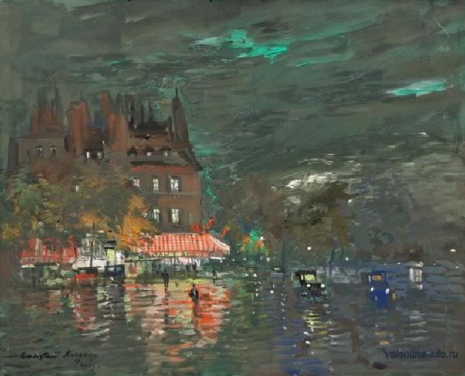 Константин Коровин. Ночной Париж. 1937