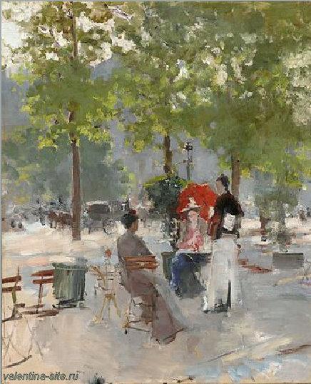 Константин Коровин. Парижское кафе. Вторая половина 1890-х