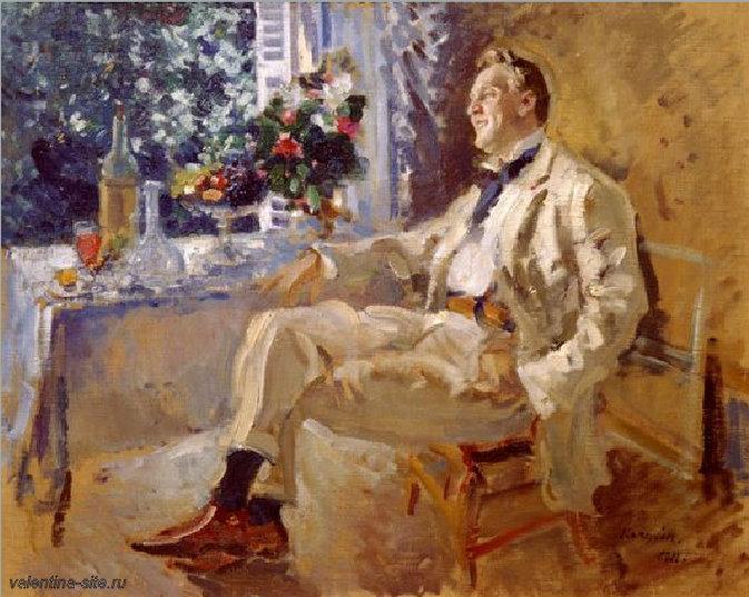 Константин Коровин. Портрет артиста Ф.И.Шаляпина. 1911