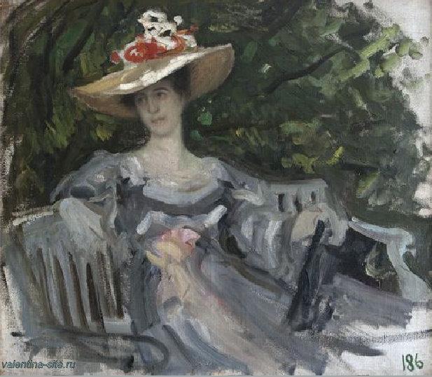 Константин Коровин. Портрет княгини М.К.Тенишевой. 1899