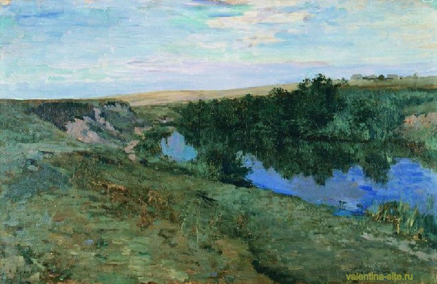 Константин Коровин. Речка в Меньшове. 1885