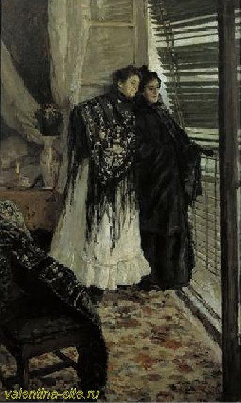 Константин Коровин. У балкона. Испанки Леонора и Ампара. 1888-89