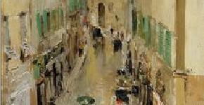 Константин Коровин. Улица во Флоренции в дождь. 1888