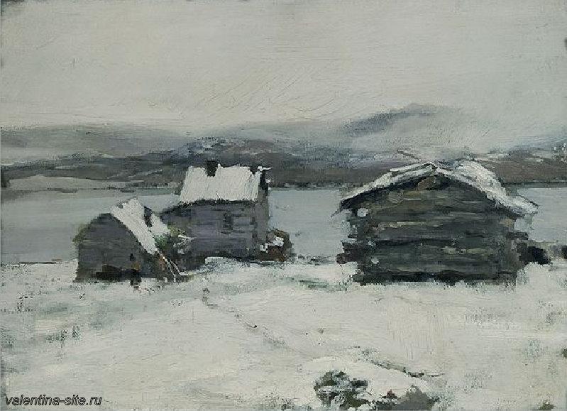 Константин Коровин. Зима в Лапландии. 1894