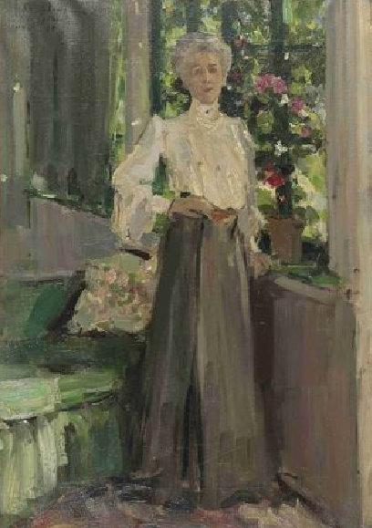 Константин Коровин. Портрет Г.Л.Теляковской. 1905