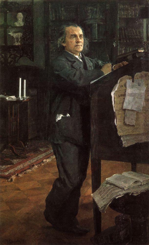 Валентин Серов. Портрет композитора А.Н.Серова, отца художника. 1888-1889
