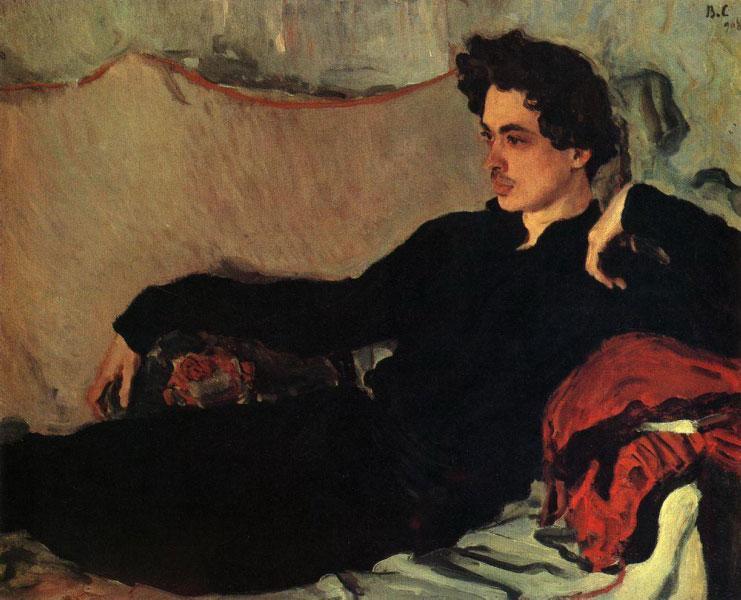 Валентин Серов. Портрет Н.С.Познякова. 1908