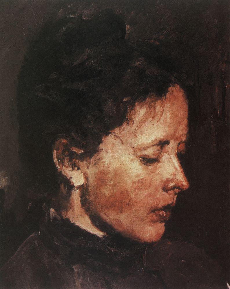 Валентин Серов. Портрет О.Ф.Серовой. 1889-1890