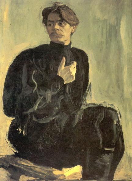 Валентин Серов. Портрет писателя А.М.Горького. 1905
