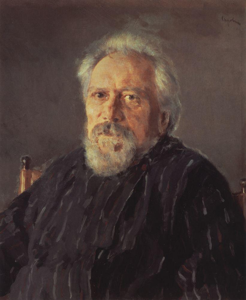 Валентин Серов. Портрет писателя Николая Лескова. 1894