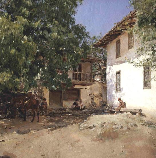 Валентин Серов. Татарская деревня в Крыму. 1893