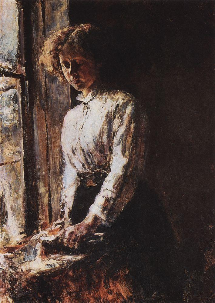 Валентин Серов. У окна. Портрет О.Ф.Трубниковой. 1886