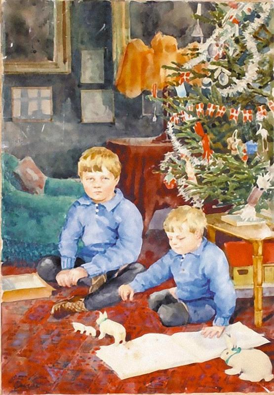 Картина Вл. кн. Ольги. Дети - Тихон и Гурий. Дания, дворец Амалиенборг