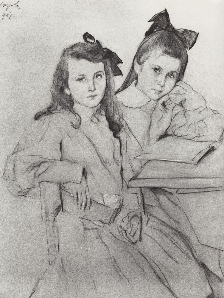 Валентин Серов. Девочки Н.А. и Т.А.Касьяновы. 1907