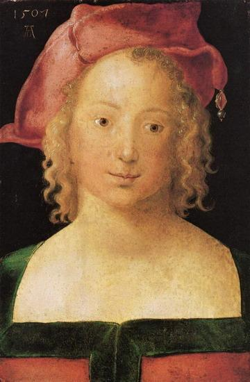 Альбрехт Дюрер. Портрет девушки в красном берете.1507