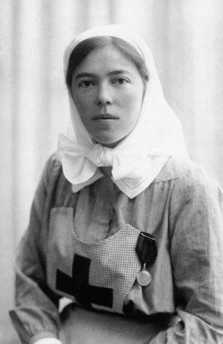 Великая княгиня Ольга Александровна в своем госпитале