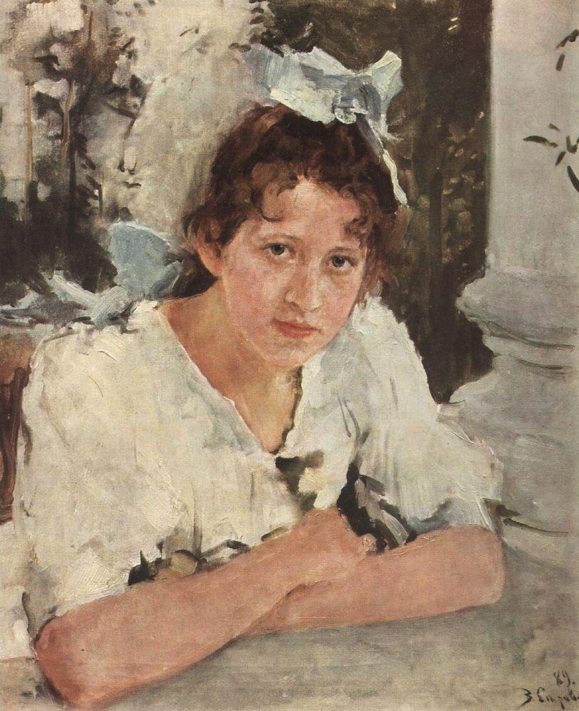 Валентин Серов. Портрет П.А.Мамонтовой. 1889