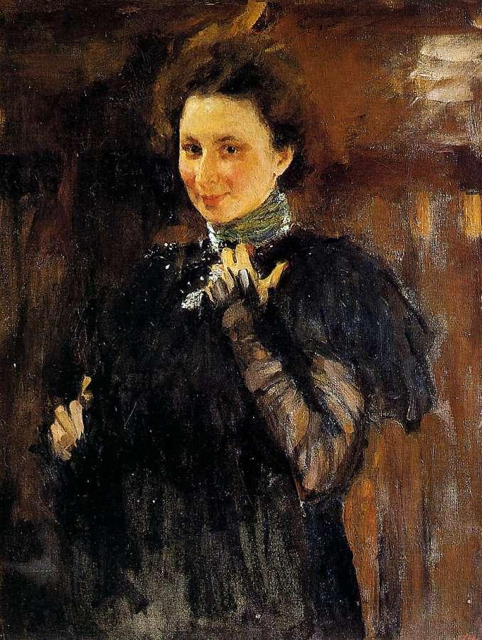 Валентин Серов. Портрет М.К.Олив. 1895