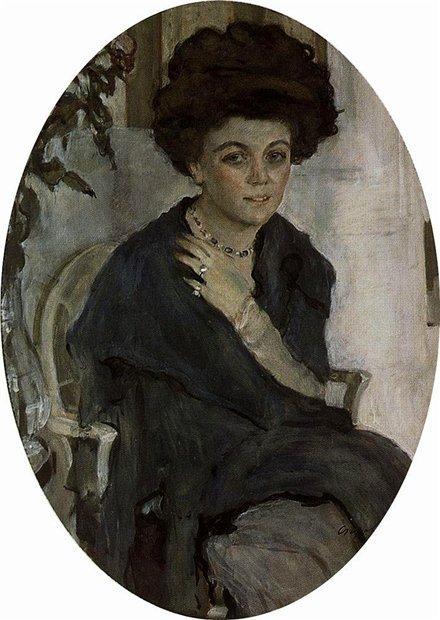Валентин Серов. Портрет Е.П.Олив. 1909