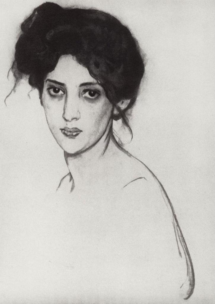 Валентин Серов. Портрет И.Ю.Грюнберг. 1910
