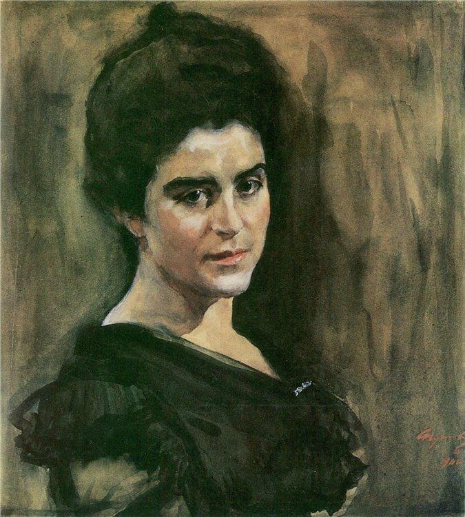 Валентин Серов. Портрет Софьи Михайловны Лукомской. 1900