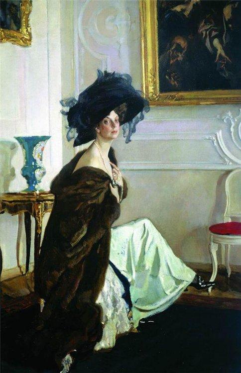 Валентин Серов. Портрет княгини О.К.Орловой. 1911