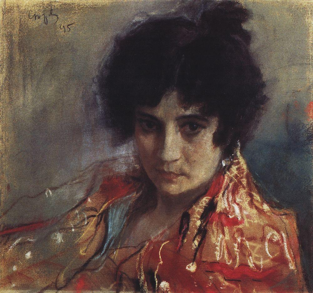 Валентин Серов. Портрет неизвестной. 1895