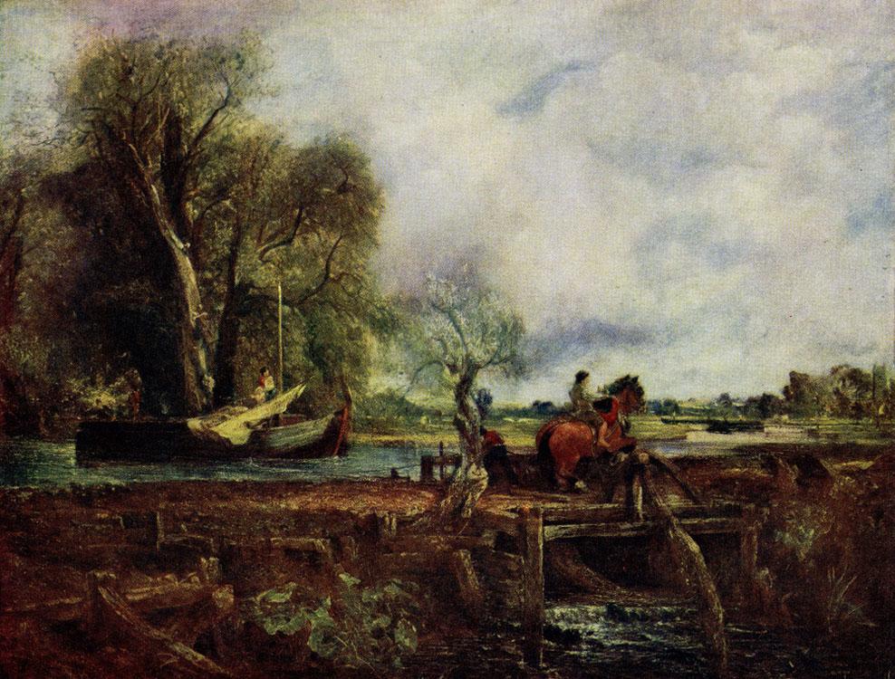 Джон Констебл. Прыгающая лошадь. 1825