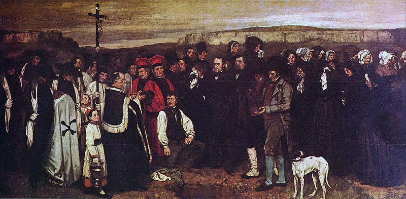 Гюстав Курбе. Похороны в Орнане. 1849-50