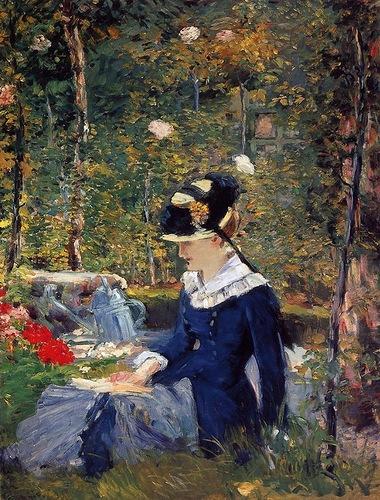 Эдуард Мане. Молодая женщина в саду. 1880