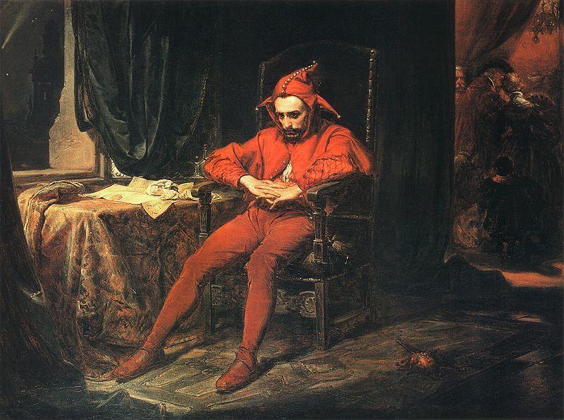 Матейко. Шут Станчик на балу печалится о захвате Смоленска русским войском. 1862