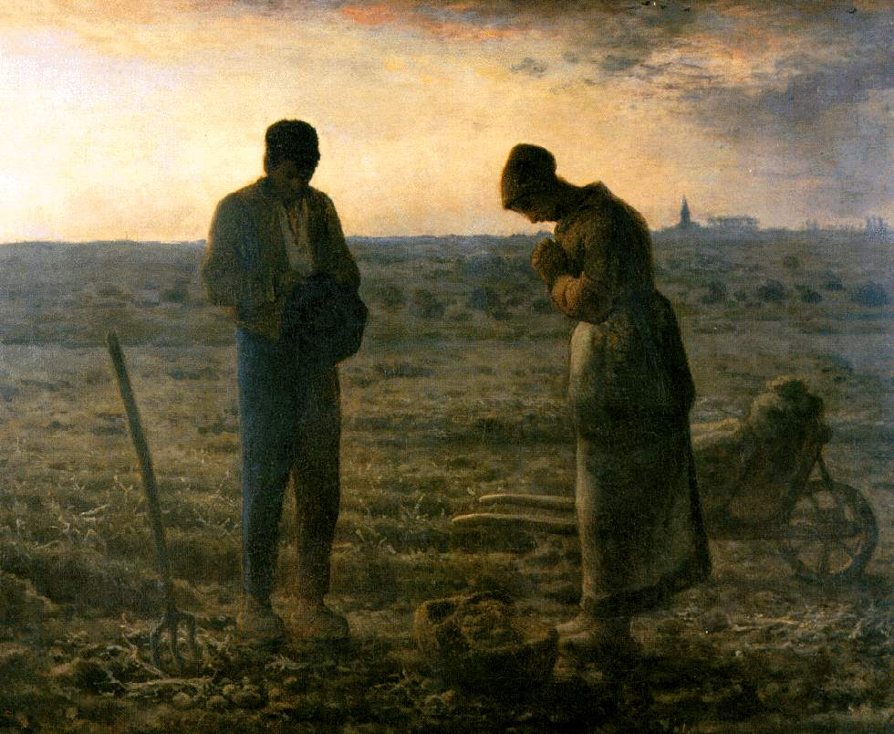 Жан-Франсуа Милле. Анжелюс. Вечерняя молитва. 1857-1859