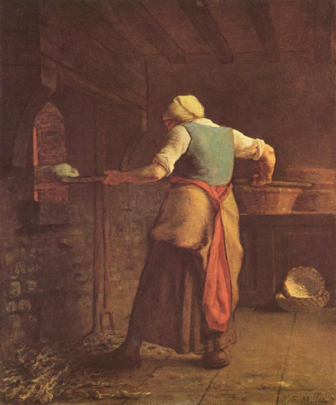 Жан-Франсуа Милле. Женщина, пекущая хлеб. 1854