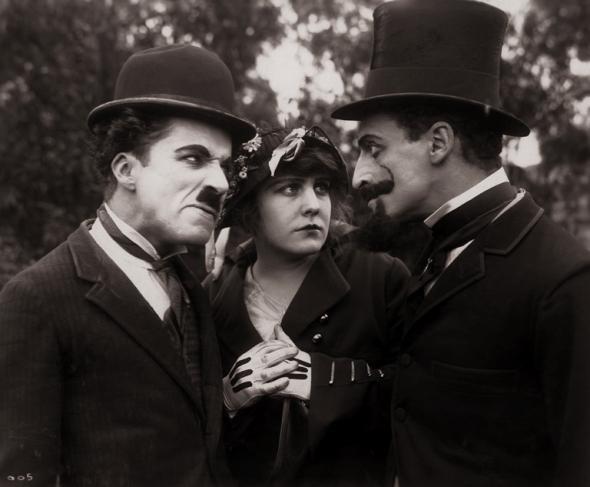 Чарли Чаплин. Бегство в автомобиле. 1915