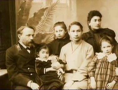 Семья Флоренских. Павел - четвертый слева