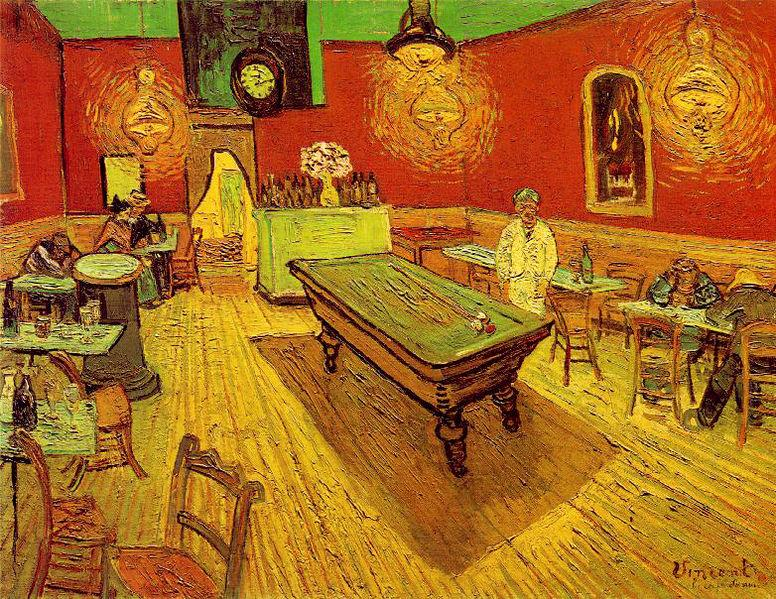 Винсент Ван Гог. Ночное кафе. 1888
