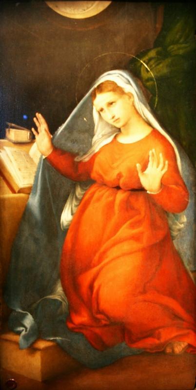Лоренцо Лотто. Дева Мария из Благовещения. 1526-27