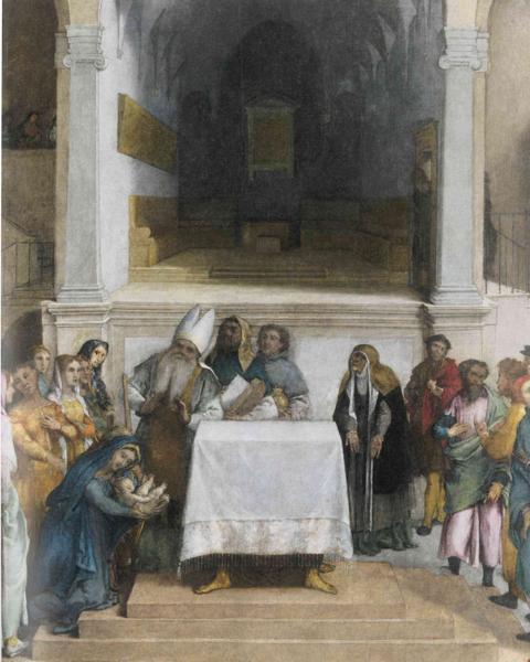 Лоренцо Лотто. Принесение во Храм. 1554-55