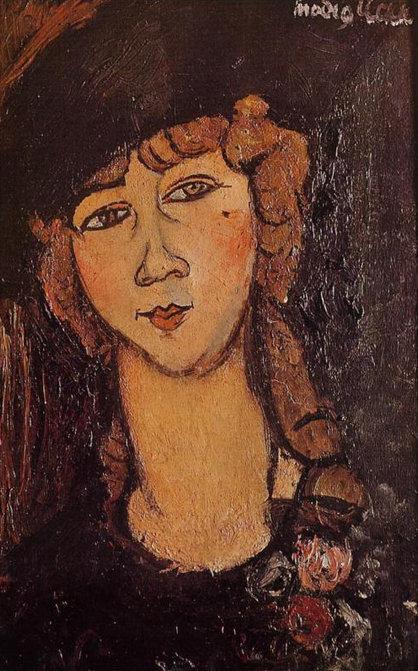 Амедео Модильяни. Лолотт (Голова женщины в шляпе). 1916