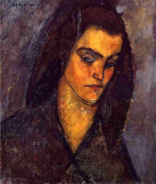 Амедео Модильяни. Нищенка. 1909
