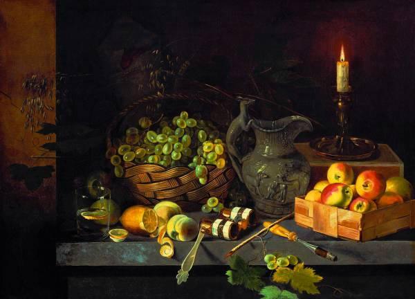 И.Ф.Хруцкий. Натюрморт со свечой. Ок.1839