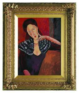 Амедео Модильяни. Жанна Эбютерн. Картина написана Джоном Майаттом