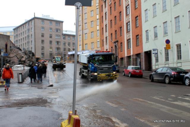 Чистые улицы Хельсинки
