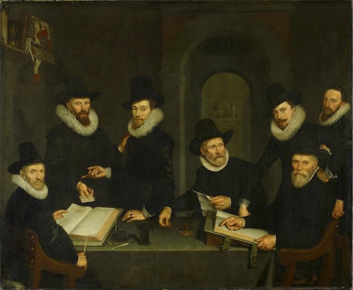 Корнелис ван дер Ворт. Групповой портрет в госпитале св.Петра. 1617