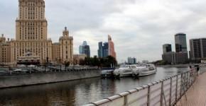 Флотилия «Рэдиссон Ройал» у гостиницы «Украина»