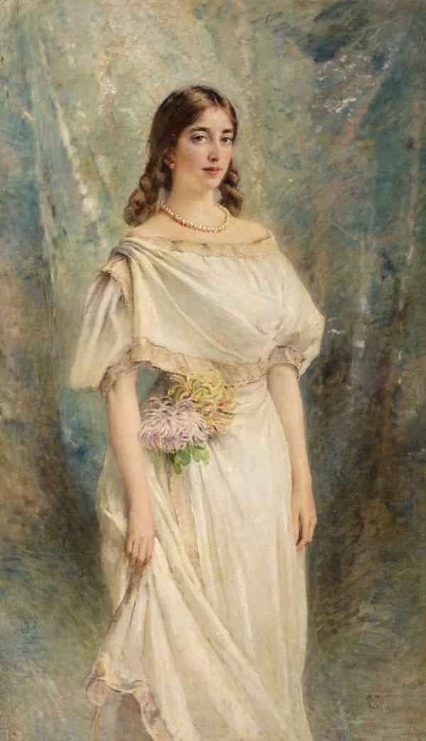 К.Е.Маковский (1839-1915). Портрет Ольги, дочери художника