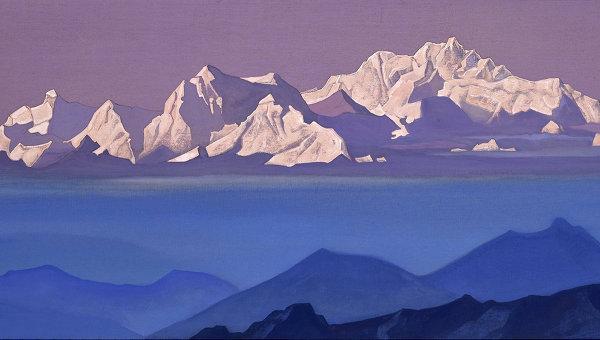 Н.К.Рерих(1874-1947). Гималаи, Канченджанга