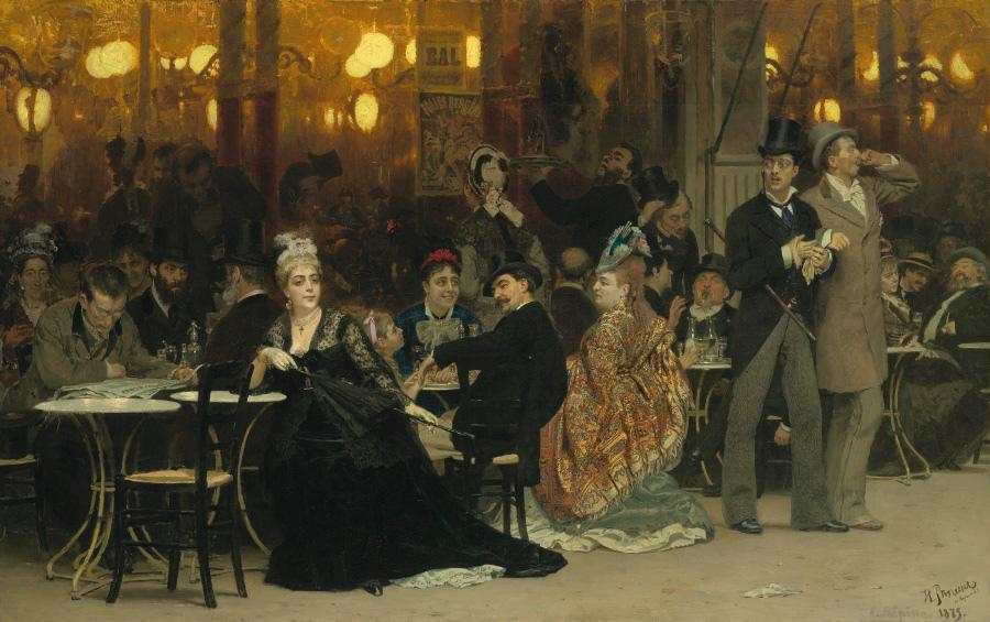 Репин И.Е. Парижское кафе 1874-1875