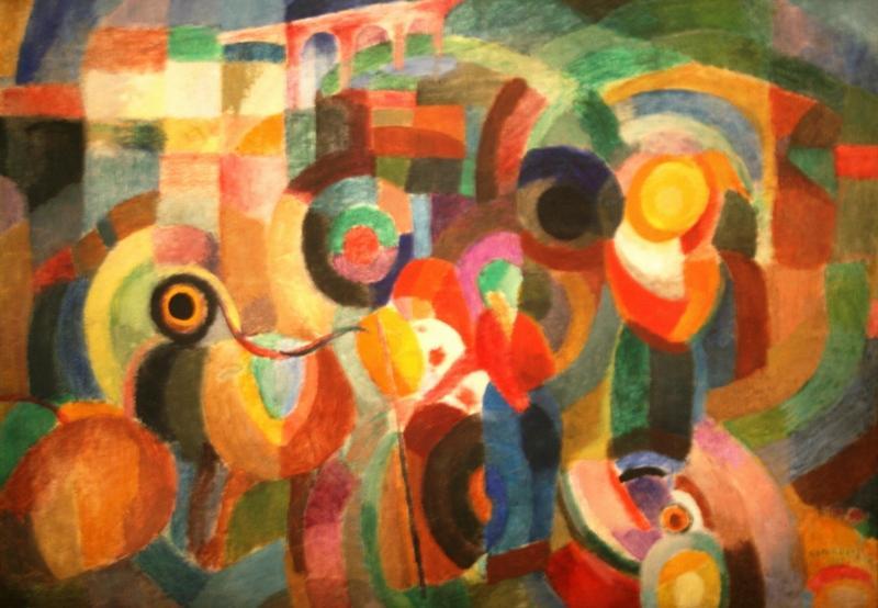 Соня Делоне «Рынок в Минью» 1915